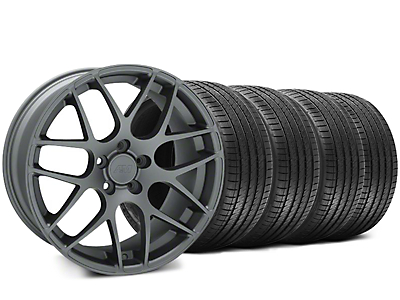 AMR Charcoal Wheel & Sumitomo Tire Kit - 18x9 (99-04 All)