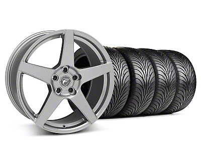 Staggered Forgestar CF5 Gunmetal Wheel & Sumitomo Tire Kit - 18x9/10 (05-14 All)