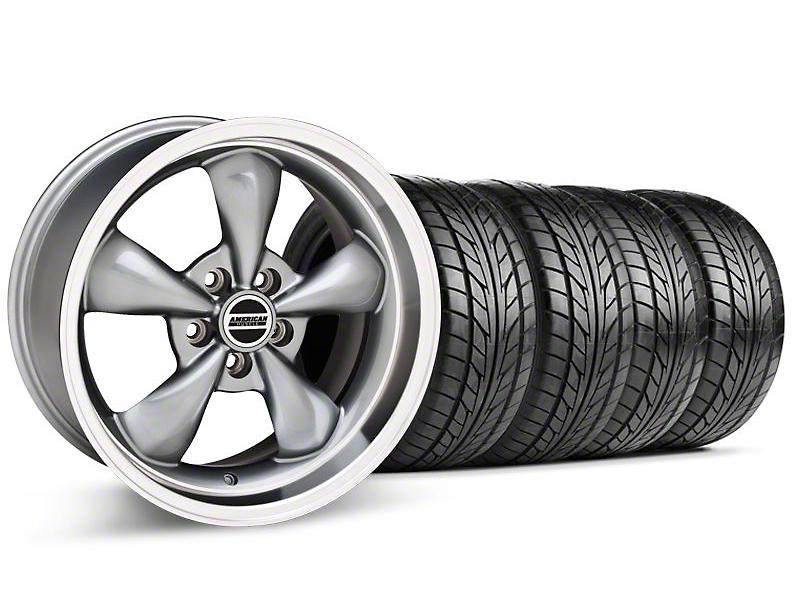 Staggered Bullitt Anthracite Wheel & NITTO Tire Kit - 18x9/10 (99-04)