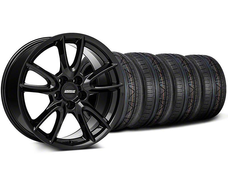 Track Pack Style Gloss Black Wheel & NITTO INVO Tire Kit - 18x9 (05-14 GT, V6)