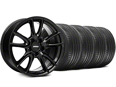 Track Pack Style Gloss Black Wheel & Sumitomo Tire Kit - 18x9 (05-14 GT, V6)