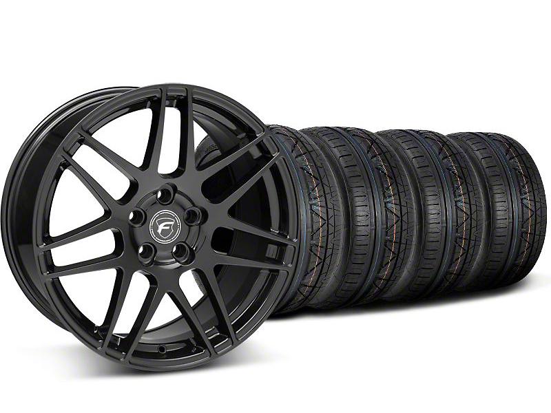 Forgestar F14 Monoblock Piano Black Wheel & NITTO INVO Tire Kit - 19x9 (05-14 All)