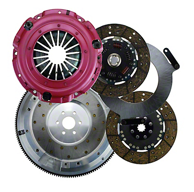 RAM Street Dual Disc Force 9.5 Clutch w/ Flywheel - 10 Spline - 6-Bolt (96-04 4.6L)