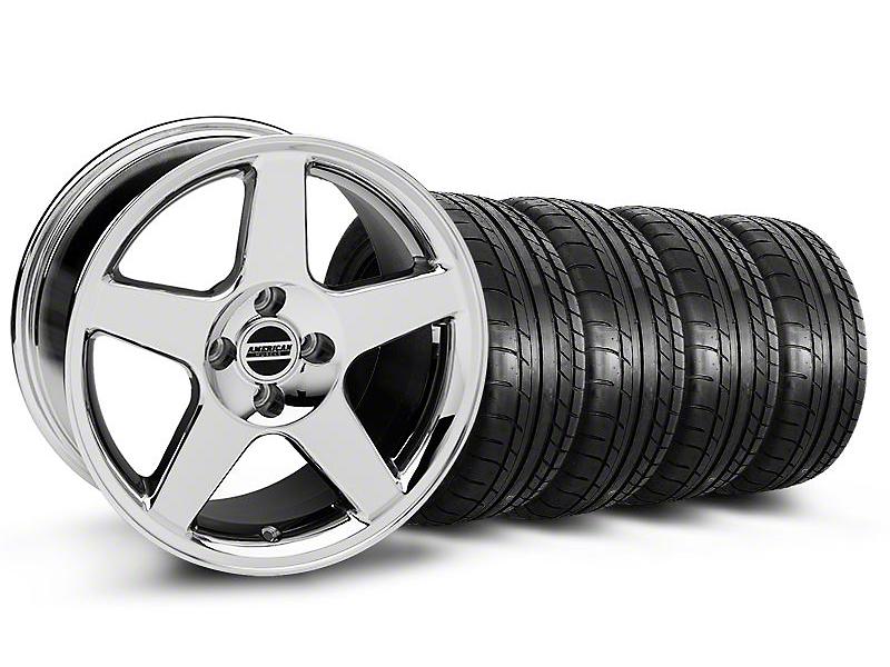 2003 Cobra Style Chrome Wheel & Mickey Thompson Tire Kit - 17x9 (87-93; Excludes 93 Cobra)