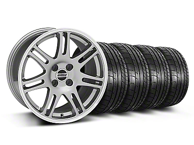 10th Anniversary Cobra Style Anthracite Wheel & Mickey Thompson Tire Kit - 17x9 (87-93; Excludes 93 Cobra)