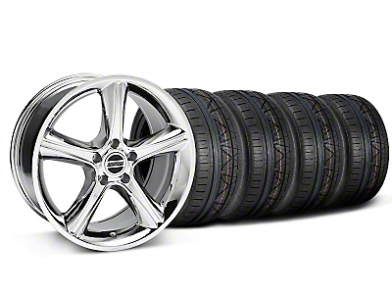 2010 GT Premium Style Chrome Wheel & NITTO INVO Tire Kit - 18x9 (05-14 GT, V6)