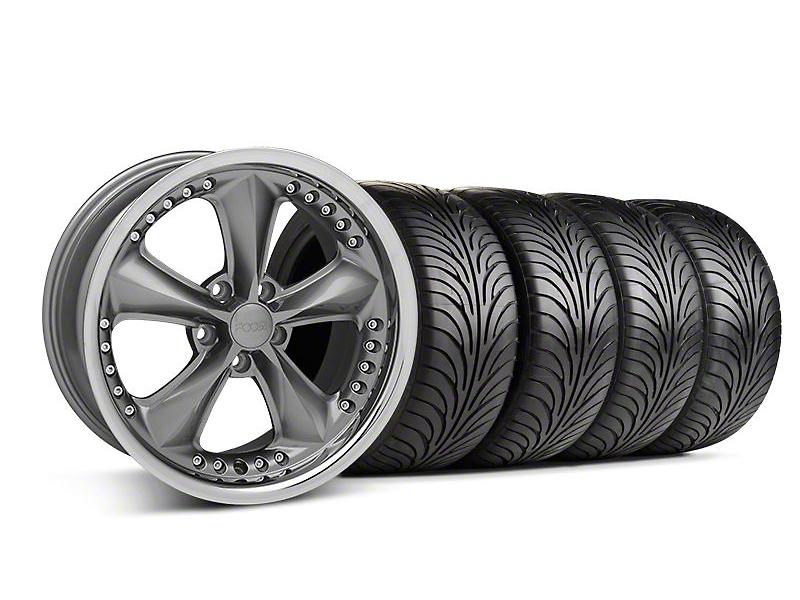 Foose Nitrous Gray Wheel & Sumitomo Tire Kit - 18x9 (05-14 GT, V6)