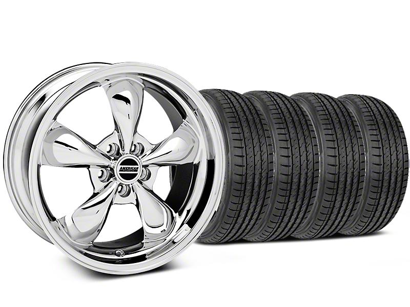 Deep Dish Bullitt Chrome Wheel & Sumitomo Tire Kit - 19x8.5 (05-14 GT, V6)