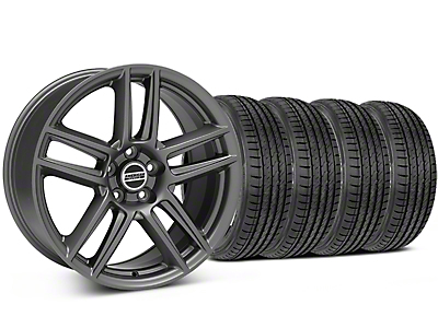 Laguna Seca Style Charcoal Wheel & Sumitomo Tire Kit - 19x9 (05-14 All)