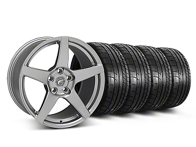 Staggered Forgestar CF5 Monoblock Gunmetal Wheel & Mickey Thompson Tire Kit - 18x9/10 (05-14 All)