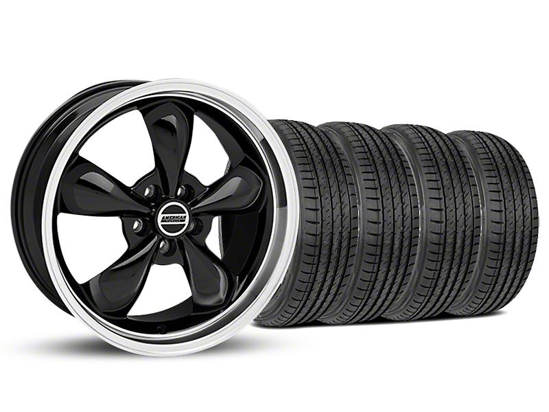 Staggered Bullitt Black Wheel & Sumitomo Tire Kit - 19x8.5/10 (05-14 GT, V6)