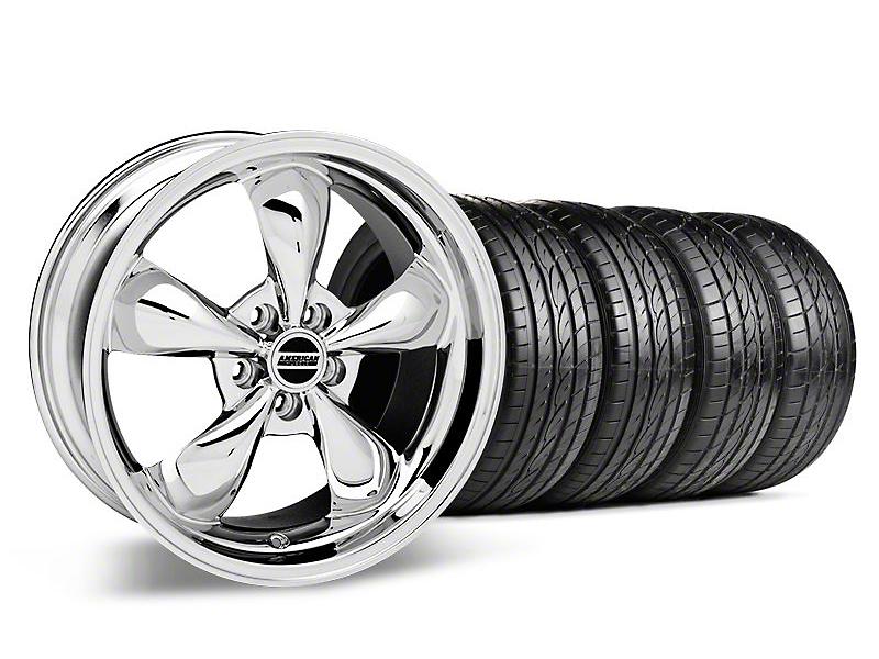 Staggered Deep Dish Bullitt Chrome Wheel & Sumitomo Tire Kit - 19x8.5/10 (05-14 GT, V6)