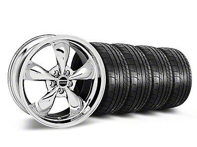 Staggered Deep Dish Bullitt Chrome Wheel & Mickey Thompson Tire Kit - 19x8.5/10 (05-14 GT, V6)