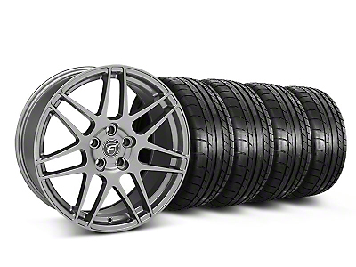 Staggered Forgestar F14 Monoblock Gunmetal Wheel & Mickey Thompson Tire Kit - 19x9/10 (05-14 All)