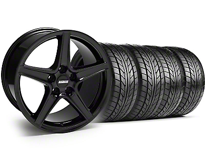Saleen Style Black Wheel & NITTO Tire Kit - 17x9 (94-98 All)
