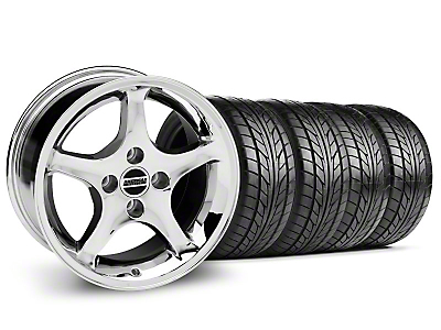 1995 Cobra R Style Chrome Wheel & NITTO Tire Kit - 17x9 (94-98 All)