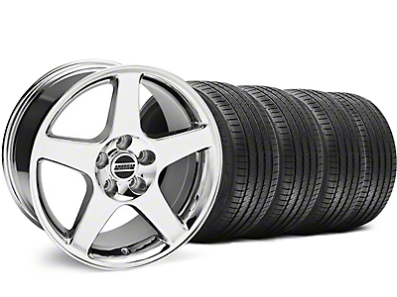Deep Dish 2003 Cobra Style Chrome Wheel & Sumitomo Tire Kit - 17x9 (94-98 All)