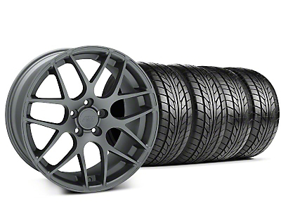 AMR Charcoal Wheel & NITTO Tire Kit - 18x9 (94-98 All)