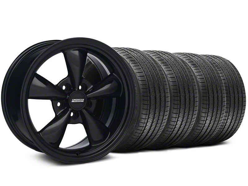 Staggered Bullitt Solid Black Wheel & Sumitomo Tire Kit - 18x9/10 (99-04 All)