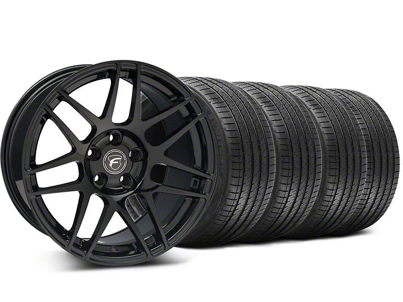 Staggered Forgestar F14 Monoblock Piano Black Wheel & Sumitomo Tire Kit - 18x9/10 (99-04 All)