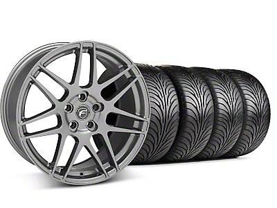 Staggered Forgestar F14 Monoblock Gunmetal Wheel & Sumitomo Tire Kit - 18x9/10 (99-04 All)