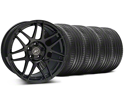 Staggered Forgestar F14 Monoblock Piano Black Wheel & Sumitomo Tire Kit - 18x9/10 (94-98 All)
