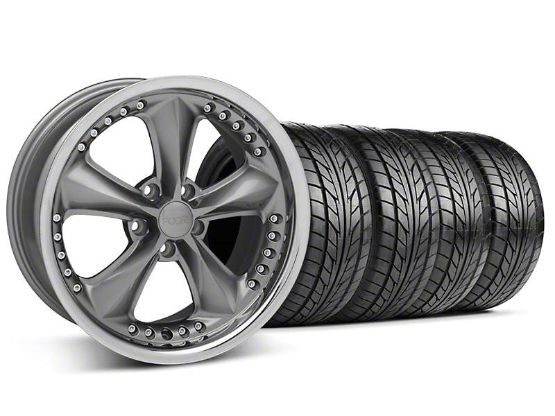 Foose Nitrous Gray Wheel & NITTO Tire Kit - 18x9 (94-98 All)