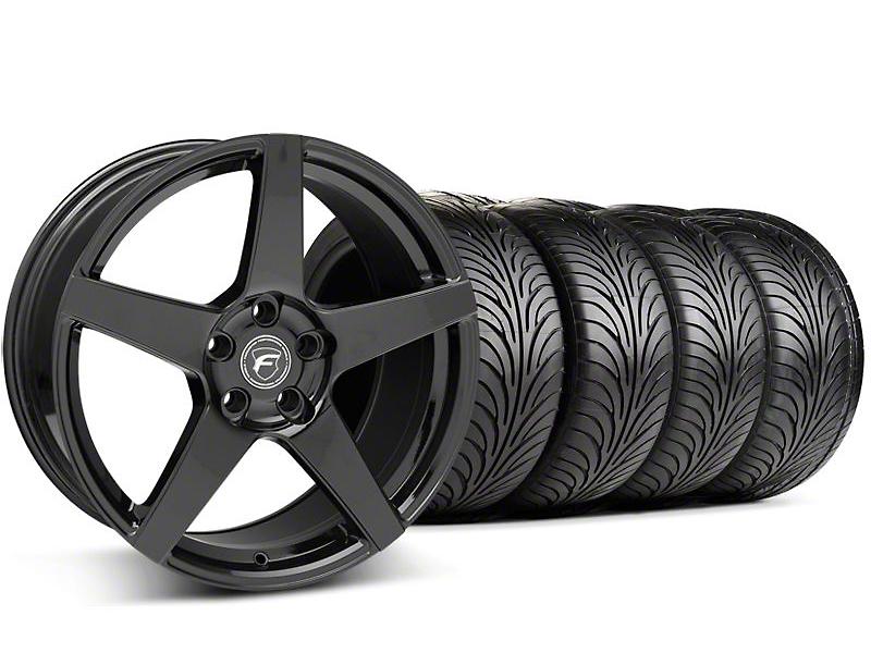 Staggered Forgestar F14 Monoblock Piano Black Wheel & Sumitomo Tire Kit - 18x9 (94-98 All)