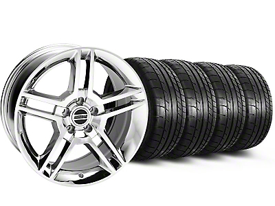 2010 GT500 Style Chrome Wheel & Mickey Thompson Tire Kit - 18x9 (05-14)