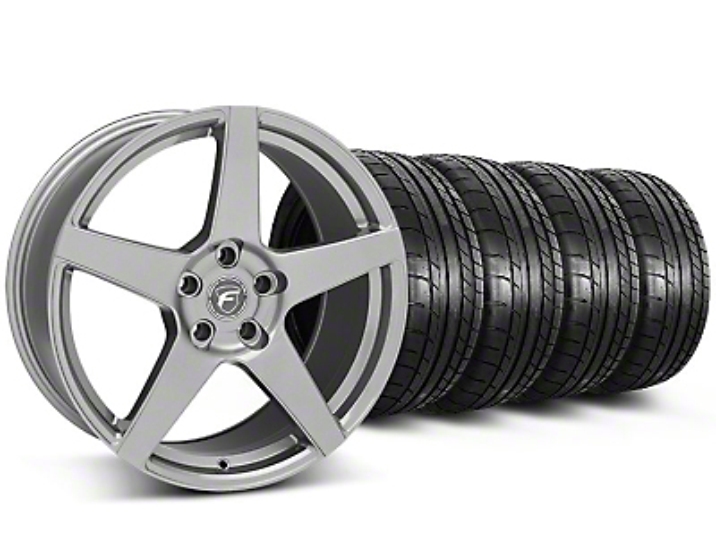 Forgestar CF5 Monoblock Gunmetal Wheel & Mickey Thompson Tire Kit - 18x9 (05-14 All)