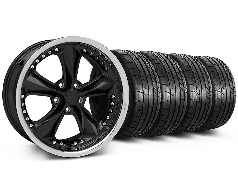 Foose Nitrous Black Wheel & Mickey Thompson Tire Kit - 18x9 (05-14)