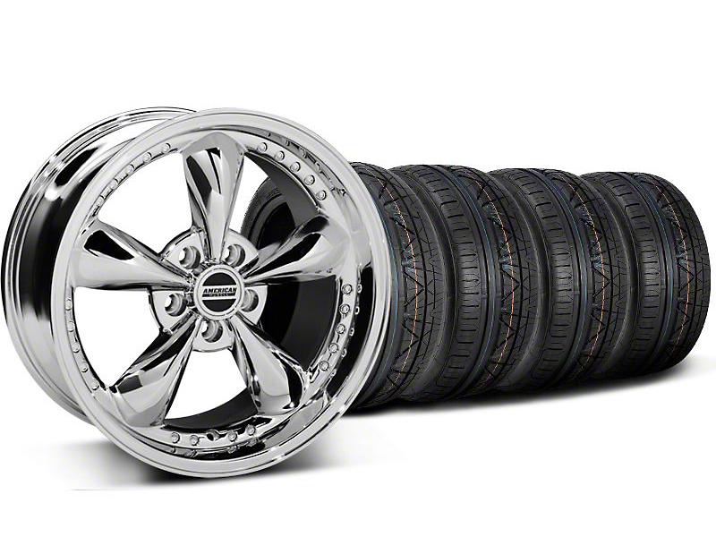 Bullitt Motorsport Chrome Wheel & NITTO INVO Tire Kit - 18x9 (05-14 GT, V6)