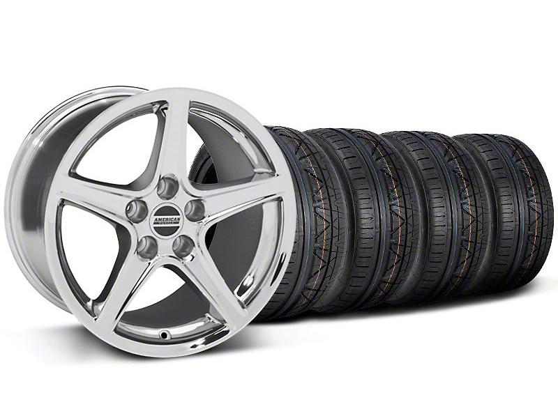Saleen Style Chrome Wheel & NITTO INVO Tire Kit - 18x9 (05-14 GT, V6)