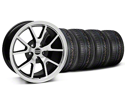 FR500 Style Black Machined Wheel & NITTO INVO Tire Kit - 18x9 (05-14)