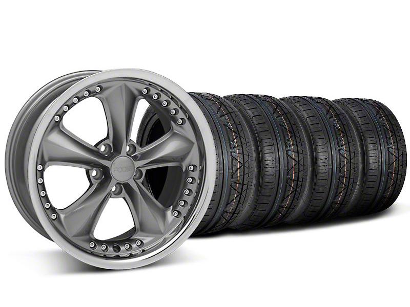 Foose Nitrous Gray Wheel & NITTO INVO Tire Kit - 18x9 (05-14)