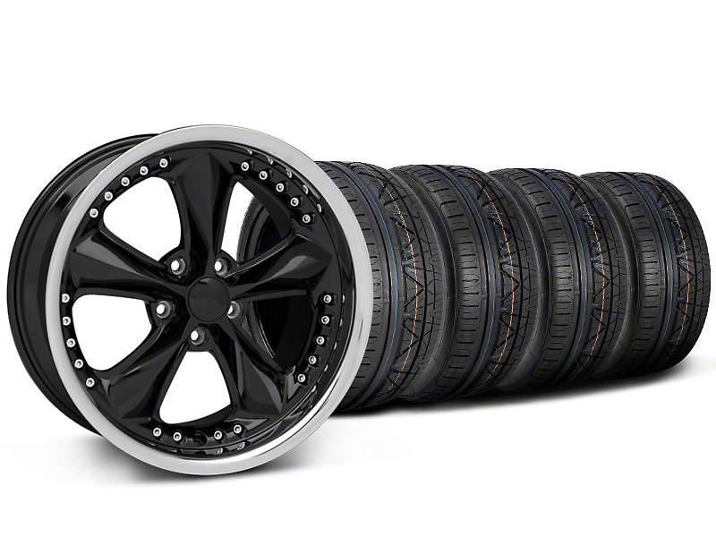 Foose Nitrous Black Wheel & NITTO INVO Tire Kit - 18x9 (05-14)