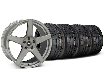 Forgestar CF5 Monoblock Silver Wheel & NITTO INVO Tire Kit - 19x9 (05-14)