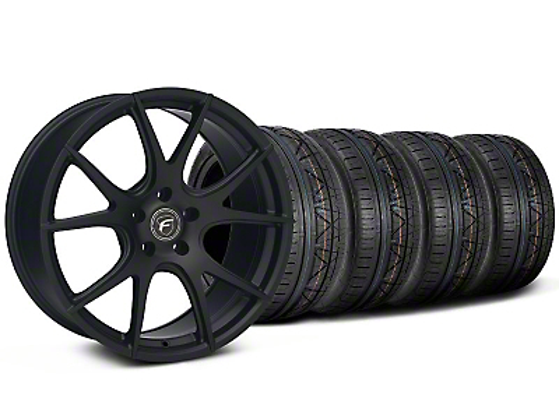 Forgestar CF5V Monoblock Matte Black Wheel & NITTO INVO Tire Kit - 19x9 (05-14)