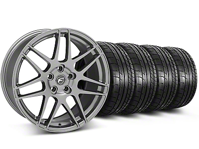 Forgestar F14 Monoblock Gunmetal Wheel & Mickey Thompson Tire Kit - 19x9 (05-14 All)