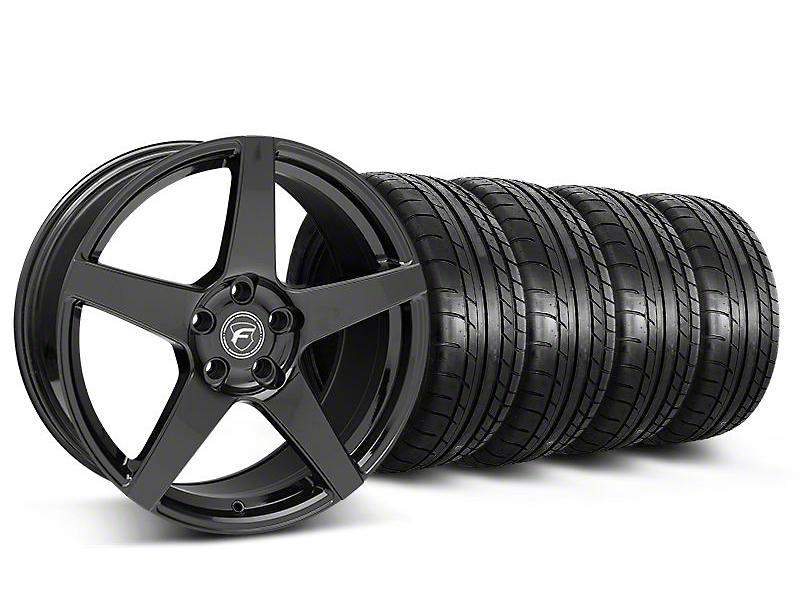 Forgestar CF5 Monoblock Gloss Black Wheel & Mickey Thompson Tire Kit - 19x9 (05-14 All)