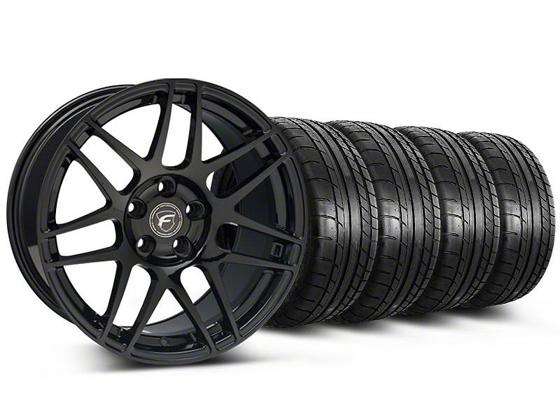 Forgestar F14 Monoblock Gloss Black Wheel & Mickey Thompson Tire Kit - 19x9 (05-14 All)