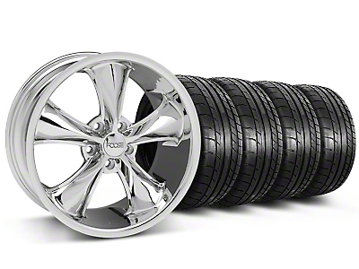 Foose Legend Chrome Wheel & Mickey Thompson Tire Kit - 20x8.5 (05-14 GT, V6)