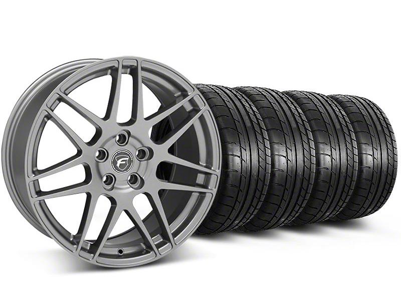 Forgestar F14 Monoblock Gunmetal Wheel & Mickey Thompson Tire Kit - 20x9 (05-14)
