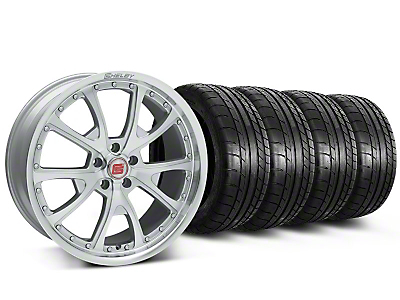 Shelby CS40 Silver Machined Wheel & Mickey Thompson Tire Kit - 20x9 (05-14)