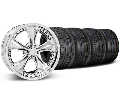 Foose Nitrous Chrome Wheel & NITTO INVO Tire Kit - 20x8.5 (05-14 GT, V6)