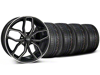 Foose Outcast Black Machined Wheel & NITTO INVO Tire Kit - 20x8.5 (05-14 All)