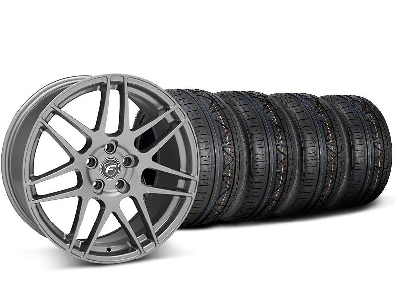 Forgestar F14 Monoblock Gunmetal Wheel & NITTO INVO Tire Kit - 20x9 (05-14)