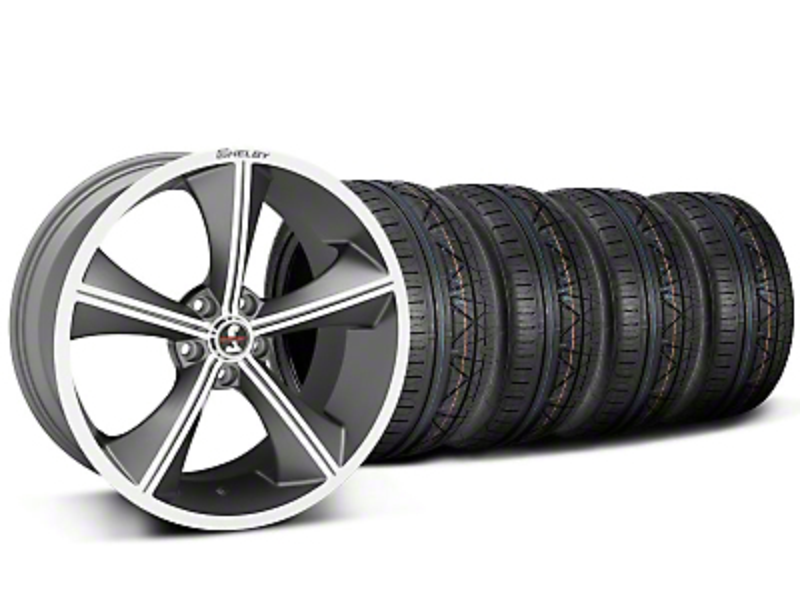 Shelby CS70 Gunmetal Wheel & NITTO INVO Tire Kit - 20x9 (05-14)