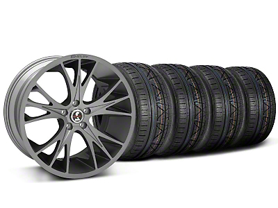 Shelby CS1 Black Machined Wheel & NITTO INVO Tire Kit - 20x9 (05-14)