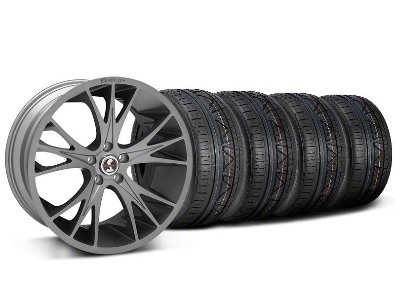 Shelby CS1 Black Machined Wheel & NITTO INVO Tire Kit - 20x9 (05-14)